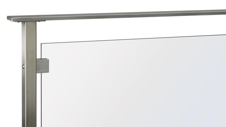 Stainless Steel Glass Panel Railing w/ Flat Top Rail