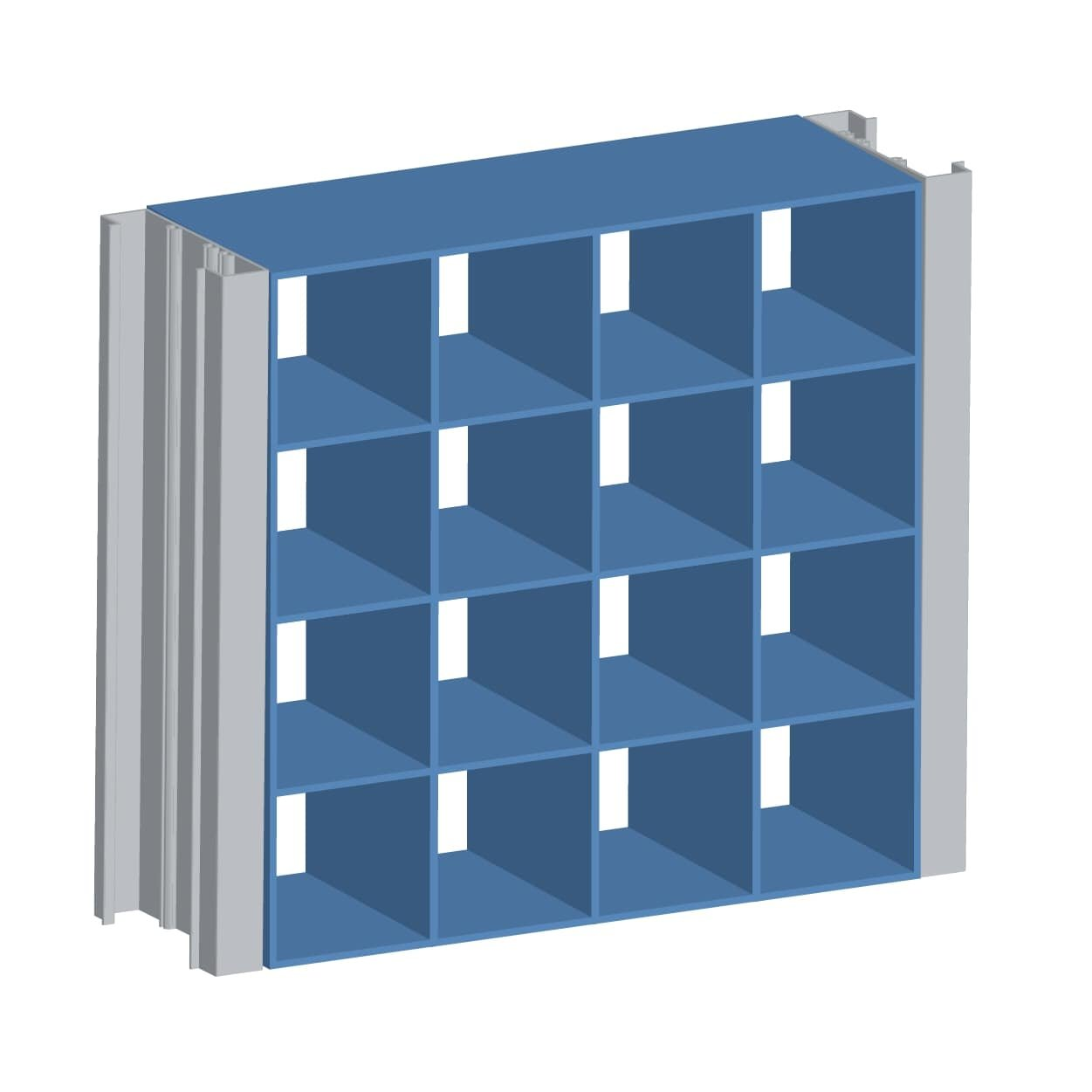 Extruded Aluminum Modular Grille Screen (Stationary)