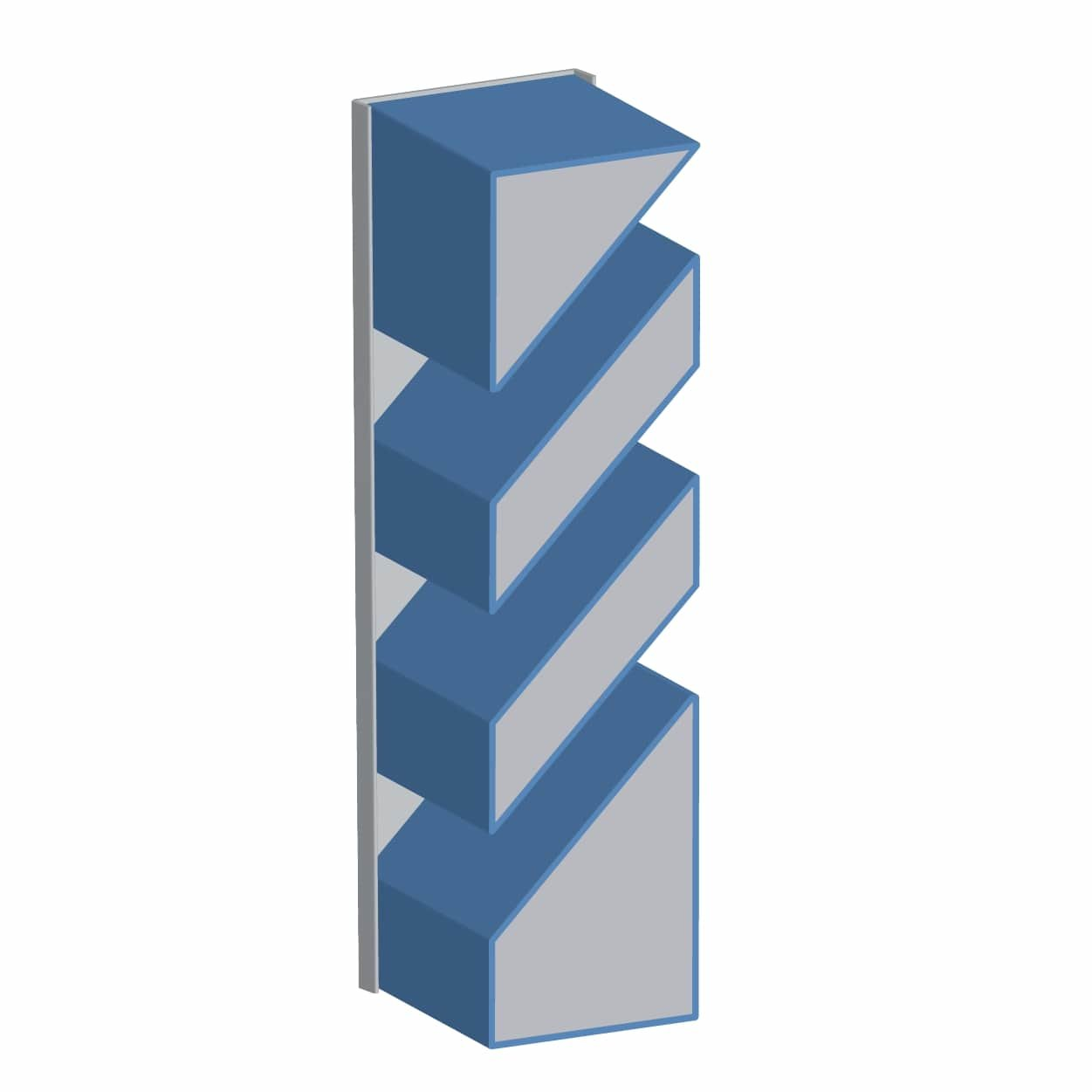 """12"""" Deep Aluminum Acoustical Louver with 12"""" On Center Blade Spacing"""