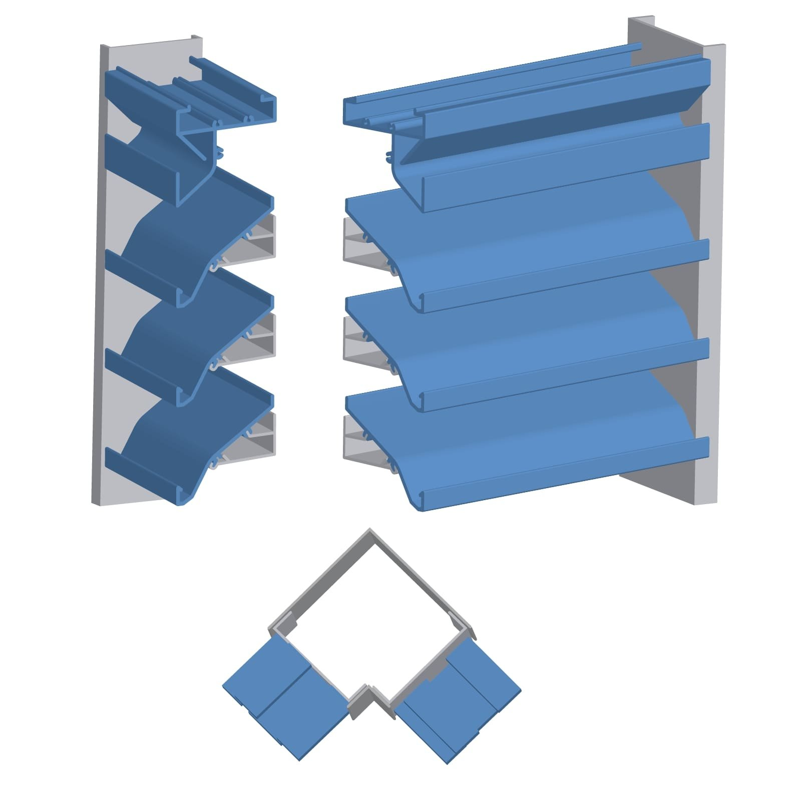 """4""""/6"""" Deep Extruded Aluminum Drainable Blade Penthouse with Post Corners"""