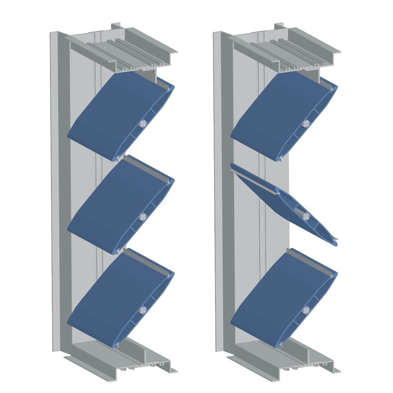 Ultra Low Leak Airfoil Control Damper
