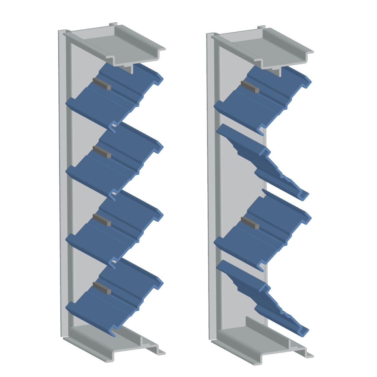 Parallel/Opposed Single Thickness Blade Control Damper