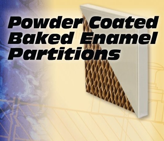 Powder-Coated Baked Enamel Partitions