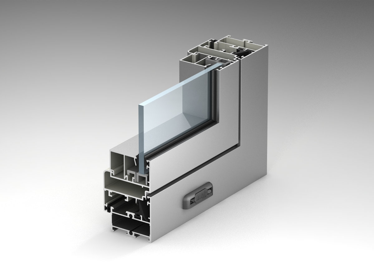 Window and Door System Without Thermal Break