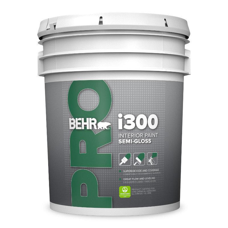 BEHR PRO™ i300 Interior Semi-Gloss Paint No. PR 370