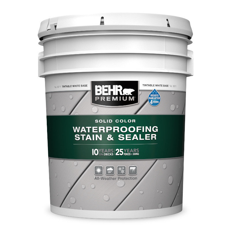 BEHR PREMIUM® SOLID COLOR WATERPROOFING STAIN & SEALER No. 5011