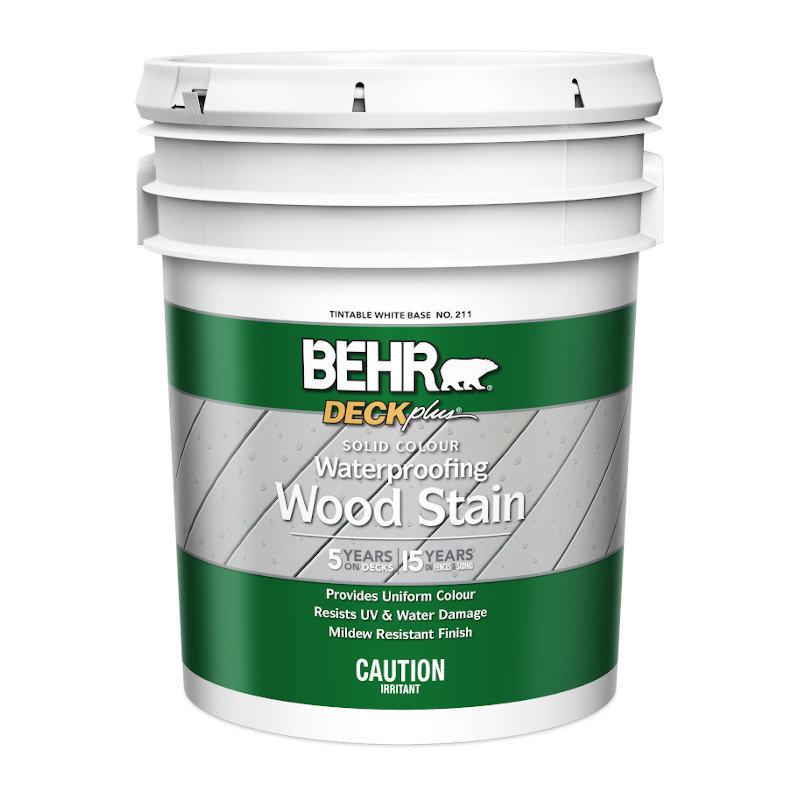 BEHR® DECKPlus™ Solid Color Waterproofing Wood Stain No. 211
