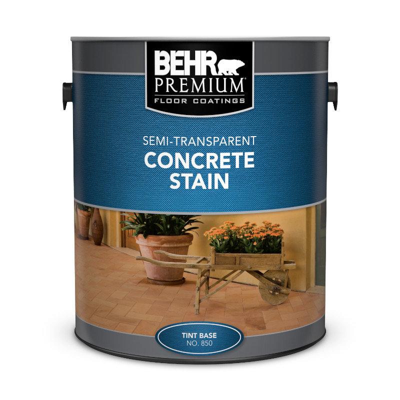 BEHR PREMIUM® Semi-Transparent Concrete Stain No. 850