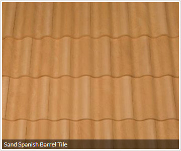 Sand Spanish Barrel Tile