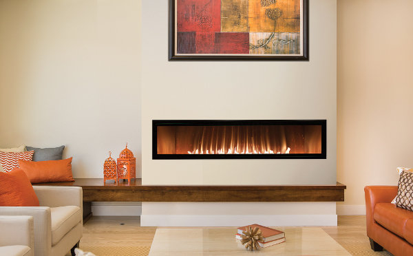 Gas Fireplace - Vent-Free - Linear - 60-inch