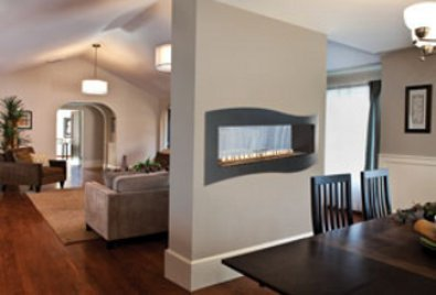 Gas Fireplace - Vent-Free - Linear See-Through - 48-inch