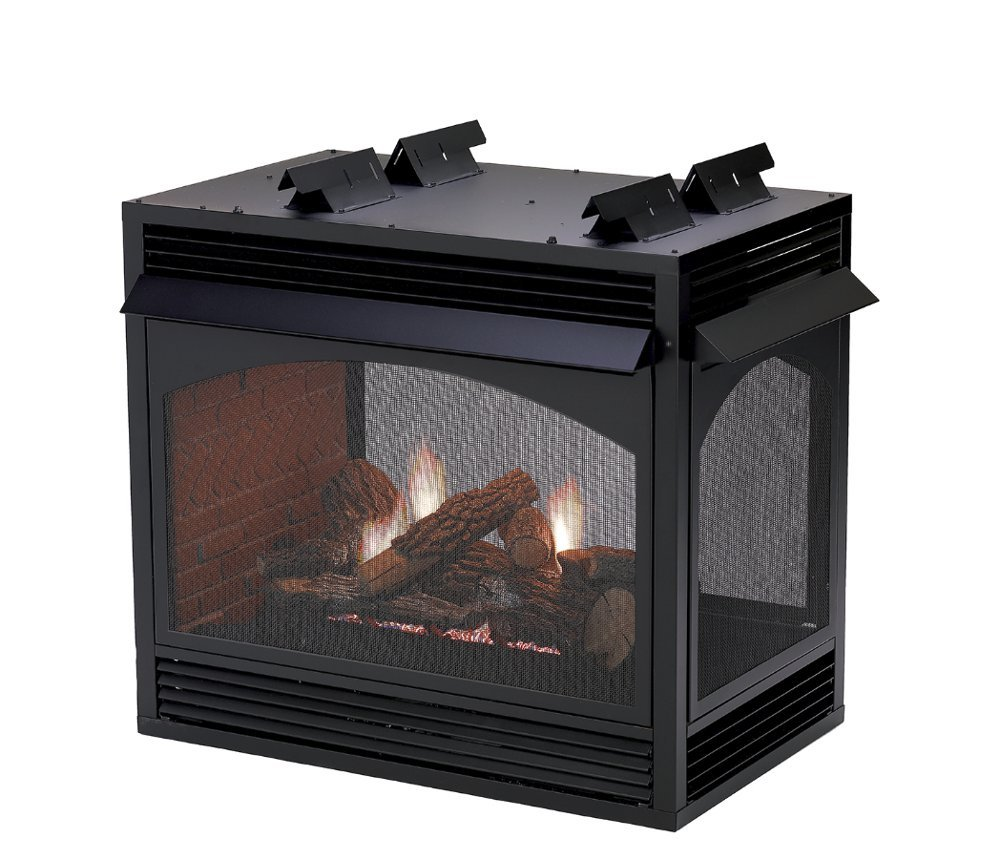Gas Fireplace - Vent-Free - See-Through - 36-inch