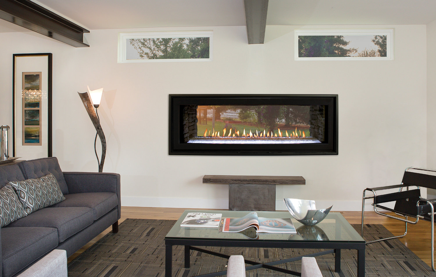 Gas Fireplace - Direct-Vent Linear See-Through Contemporary 48-inch