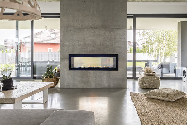 Gas Fireplace - Vent-Free Linear See-Through 48""