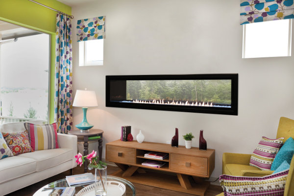 """Gas Fireplace - Vent-Free - Linear See-Through Fireplace 60"""""""