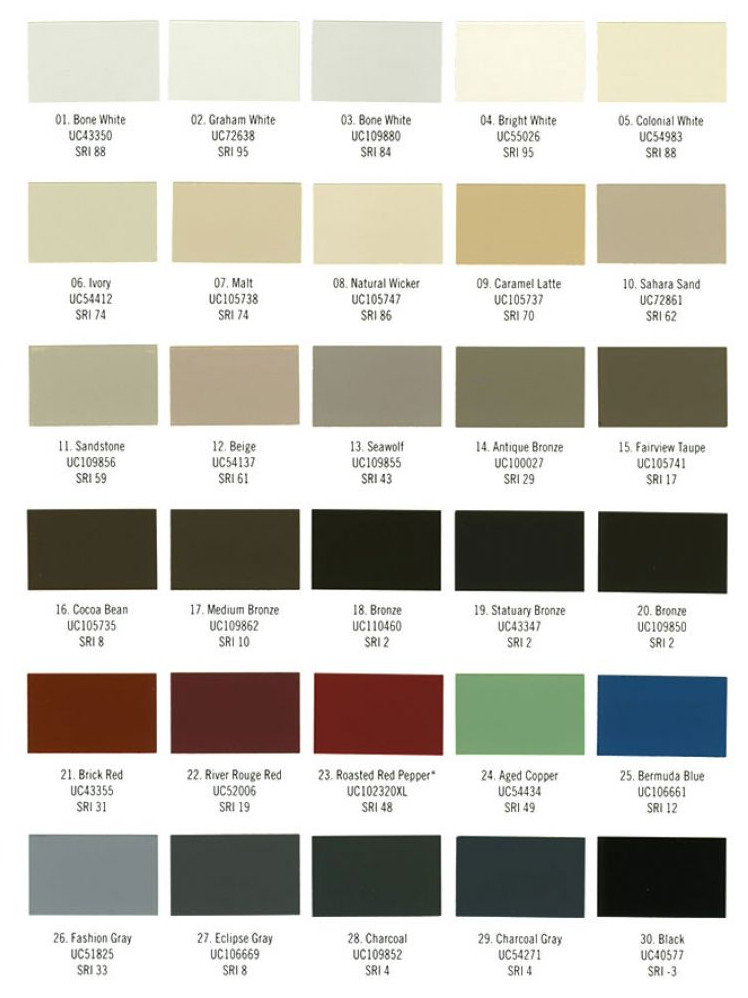 Architectural Finishes : Colors
