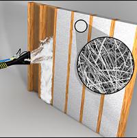 spray fiberglass insulation