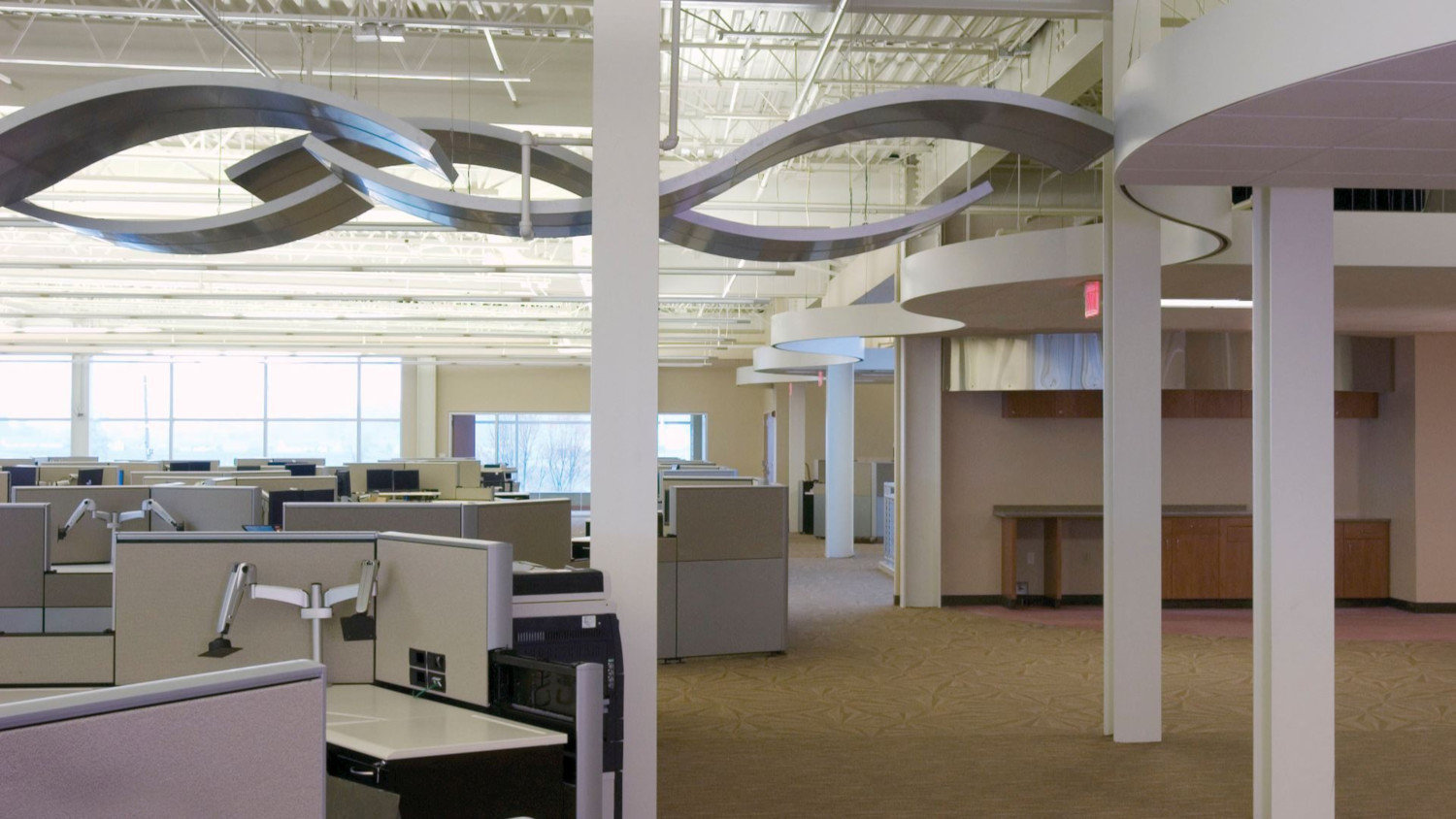 Curved Ceiling System with EZ-Flex™ Panels