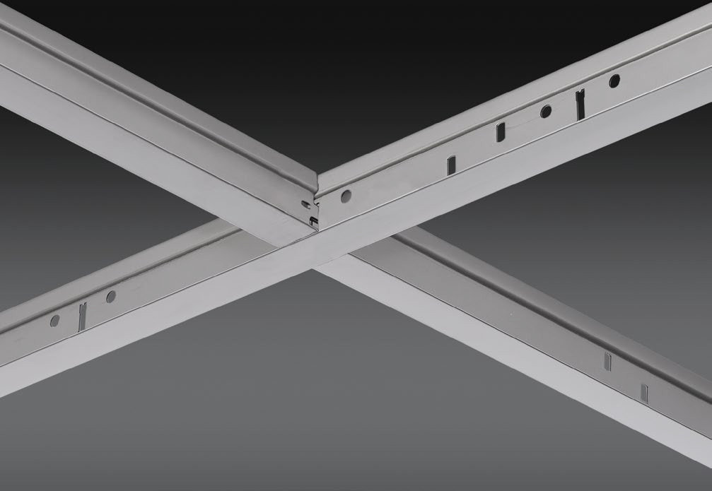 """15/16"""" Stainless Steel Exposed Grid Ceiling System"""