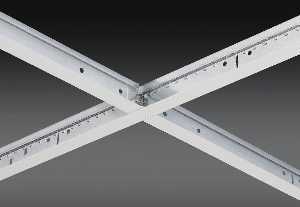 "15/16"" Aluminum Cap Exposed, Fire Rated Grid Ceiling System"