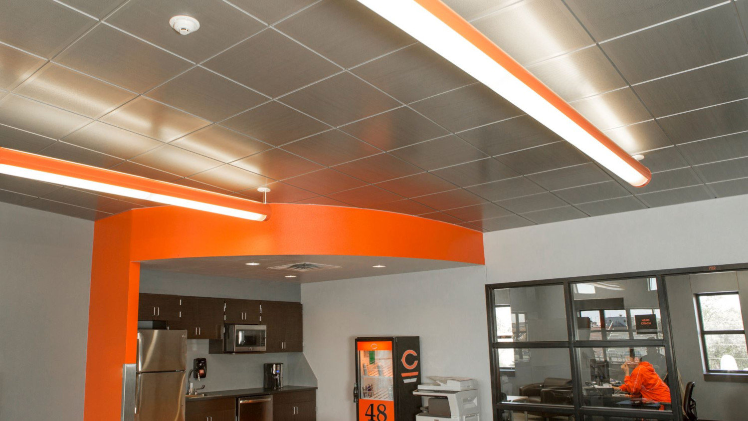 Snap-in Metal Panel Ceiling System