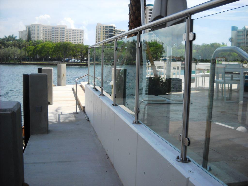 Glass Handrails Panel