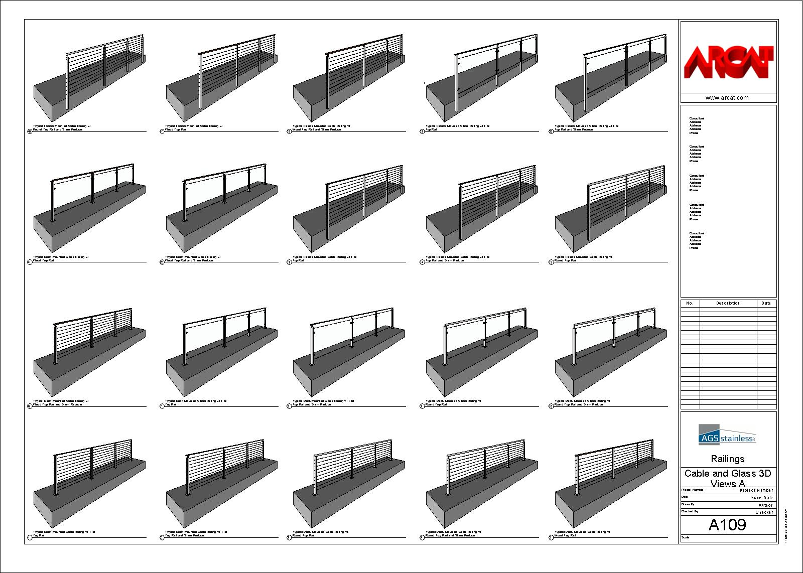 Decorative Metal Railings - Metals - Free BIM Objects / Families | ARCAT