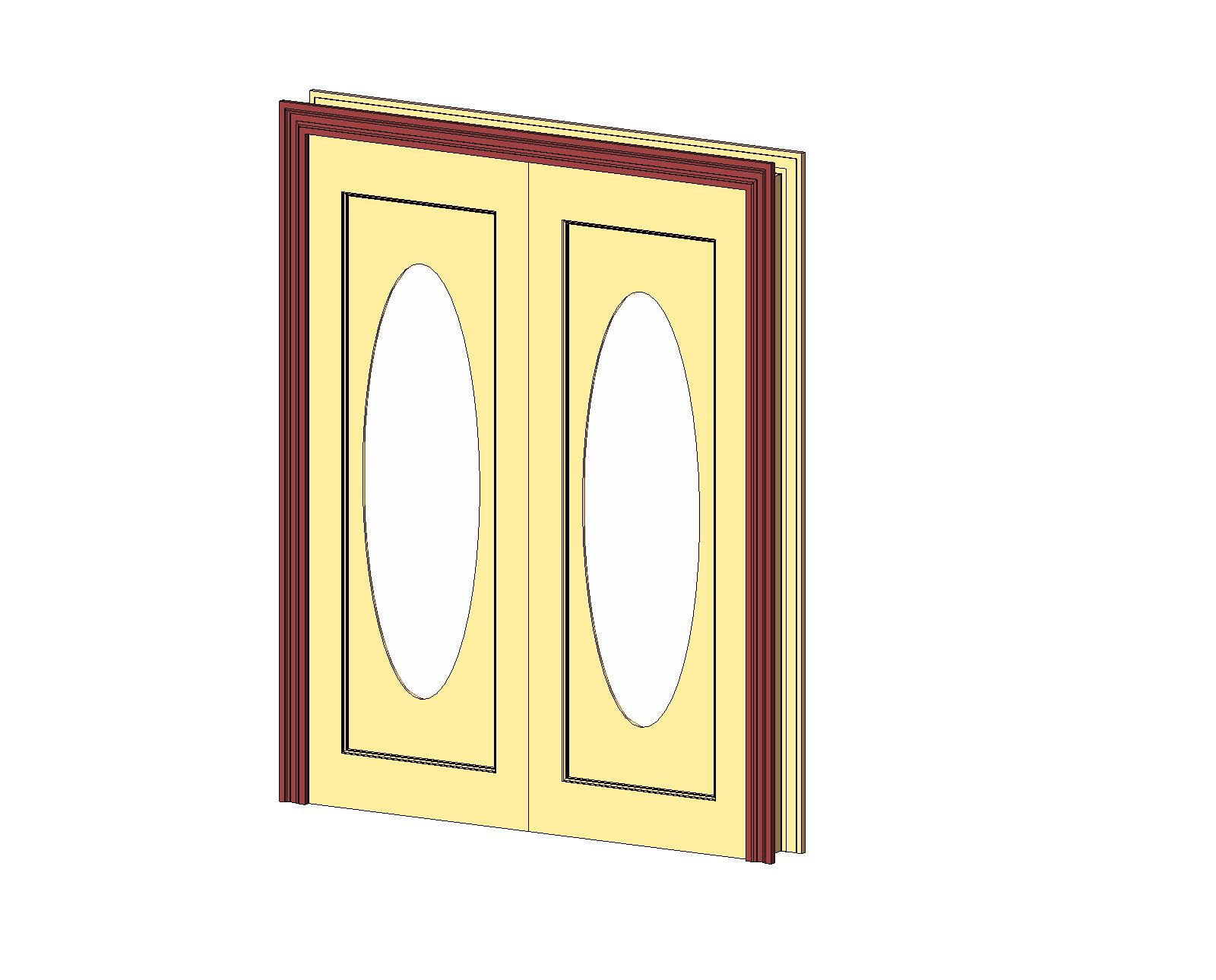 1290 #BC9F0F Doors And Hardware: Common Doors: Entry Double: 1 Panel Glz Oval  wallpaper Hardware For Double Entry Doors 46551600