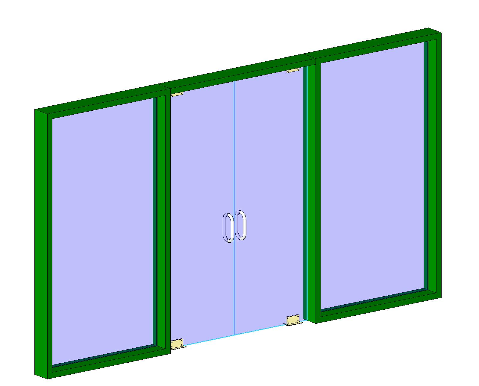 Glass folding door revit window family corner window revit sliding - Arcat Inc Bim Content