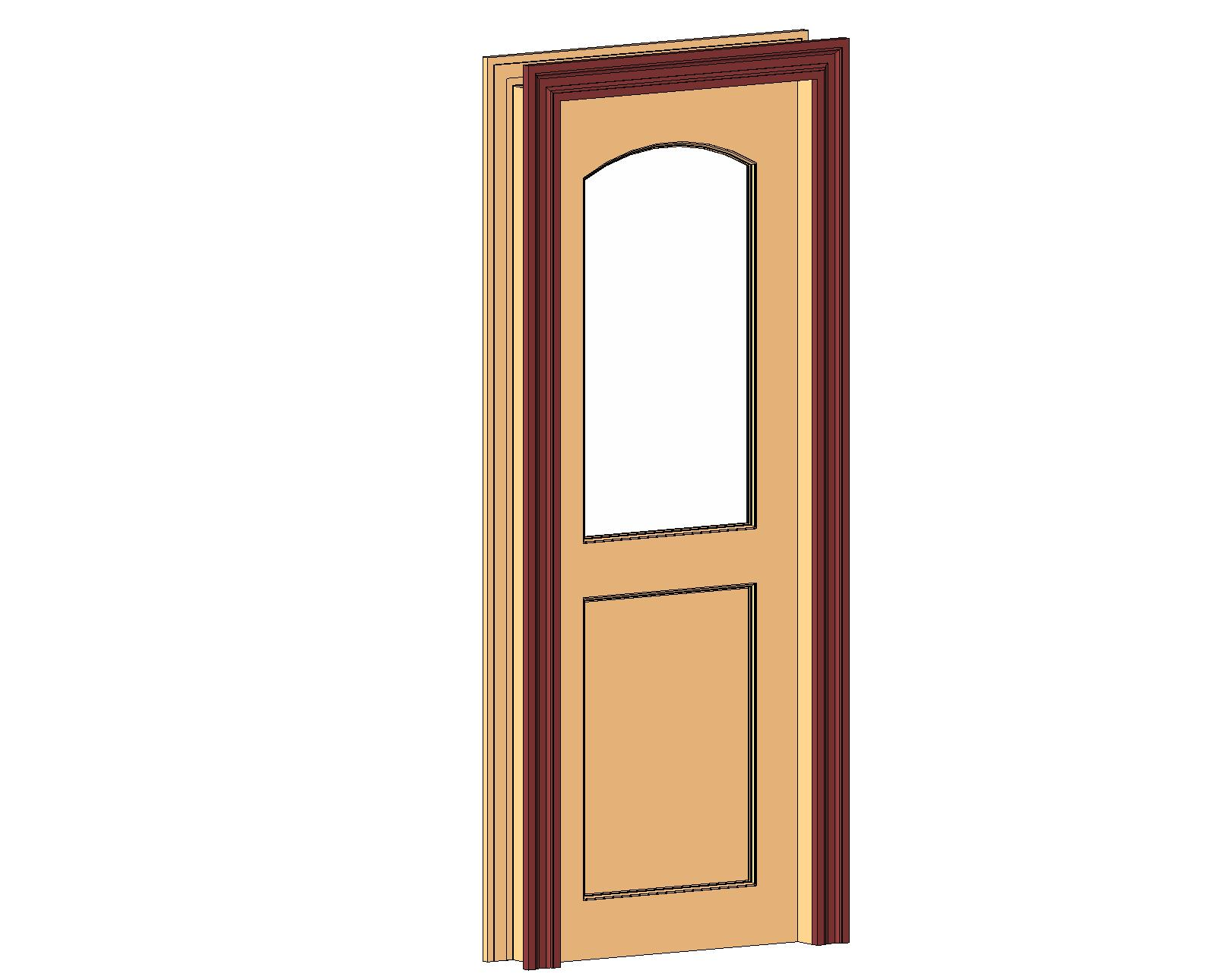 doors and hardware common doors entry single 2 panel glazed arched top