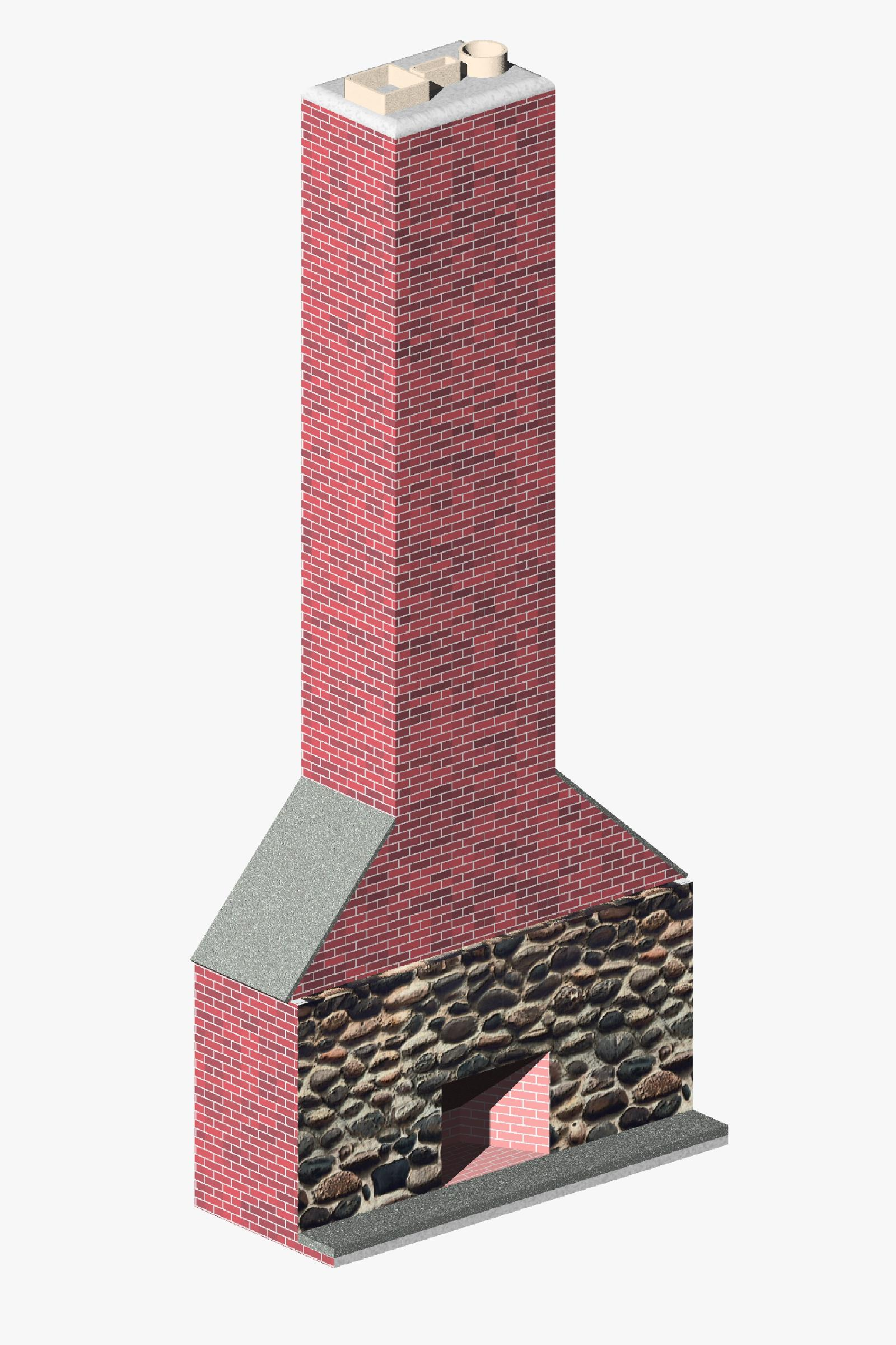 fireplace and chimney. BIM content Objects  Families