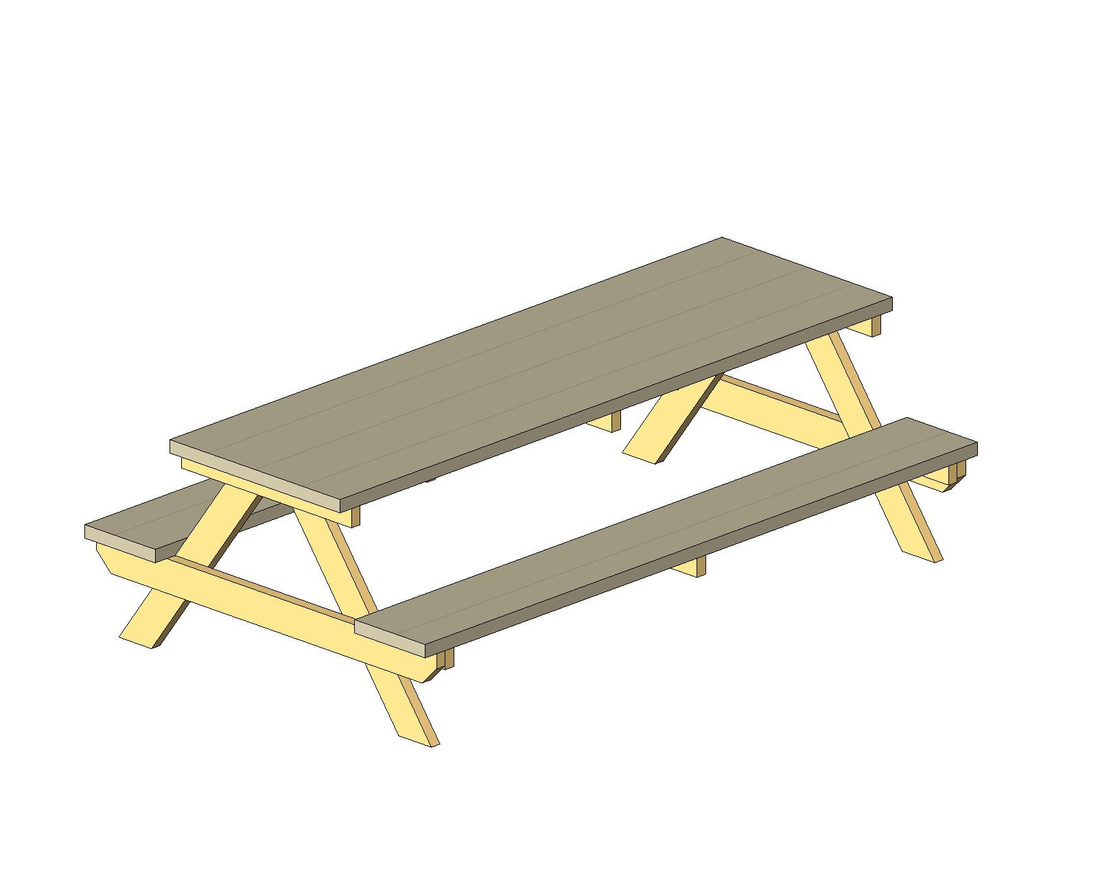 Picnic Table Autocad Drawing Plans DIY Free Download Pool Table - Picnic table dwg