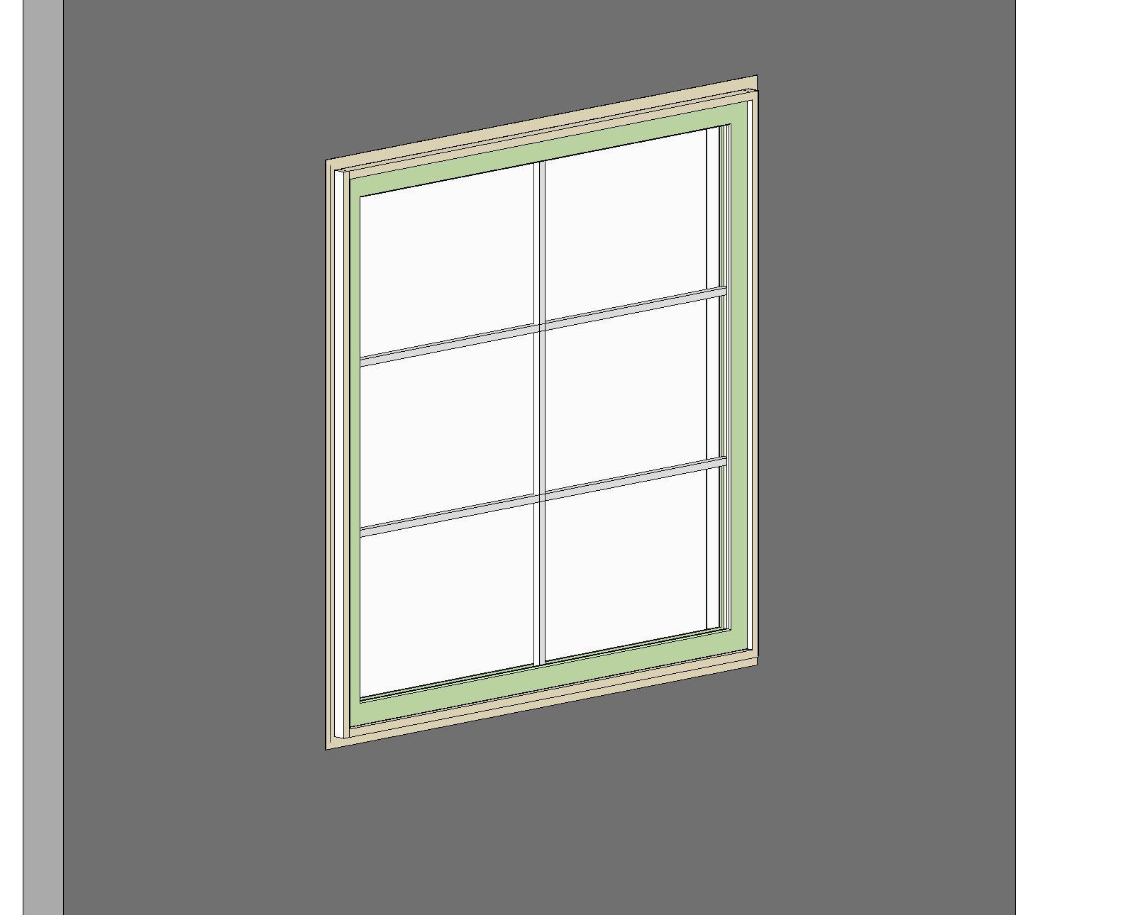 Vinyl Window Glazing : Bim objects families