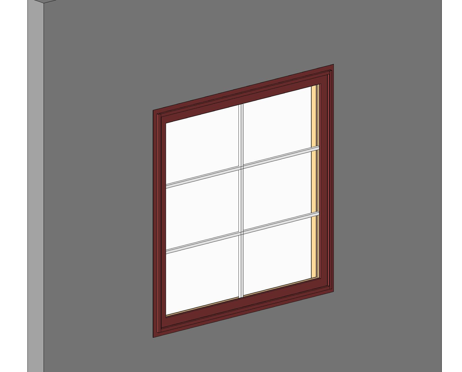 Bim objects families for Wooden casement windows