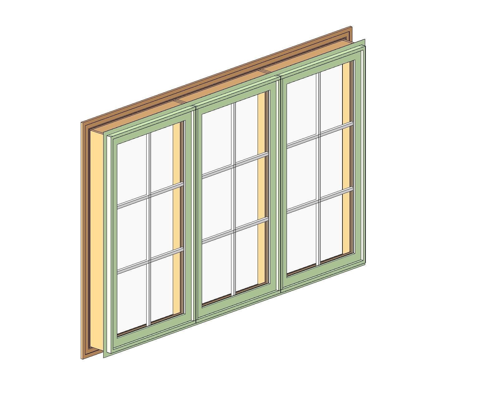 Generic wood windows bim objects families for Window object