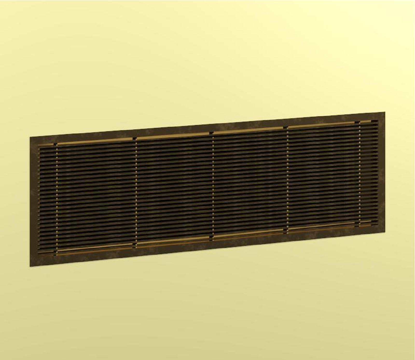 architectural grille decorative metal bim objects / families