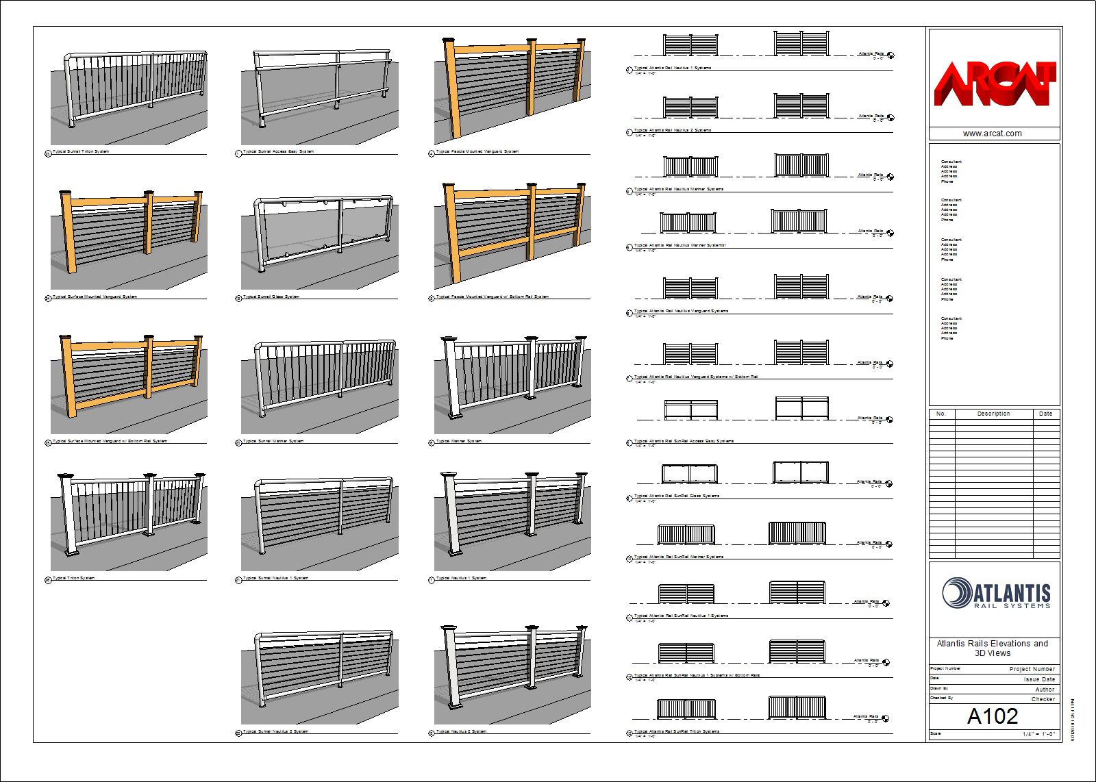 Decorative Metal Railings - Metals - Free BIM Objects