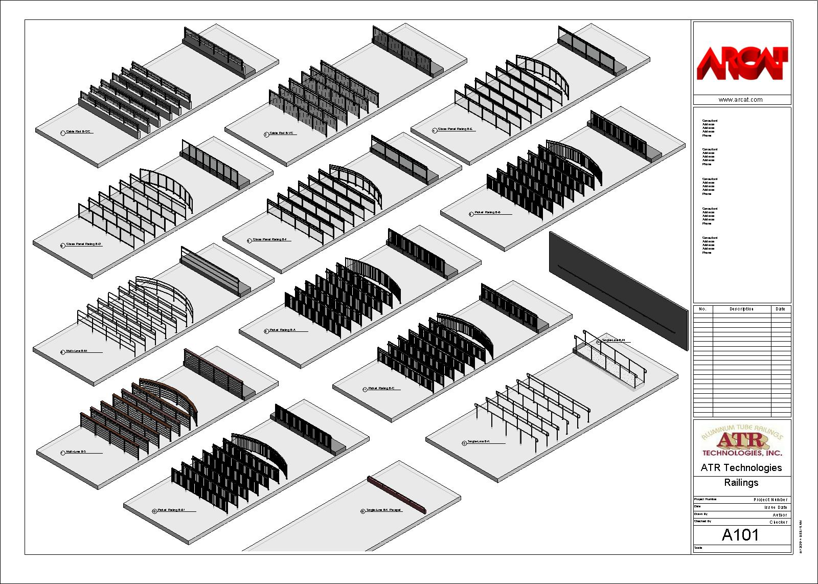 Decorative Metal Railings - Metals - Free BIM Objects