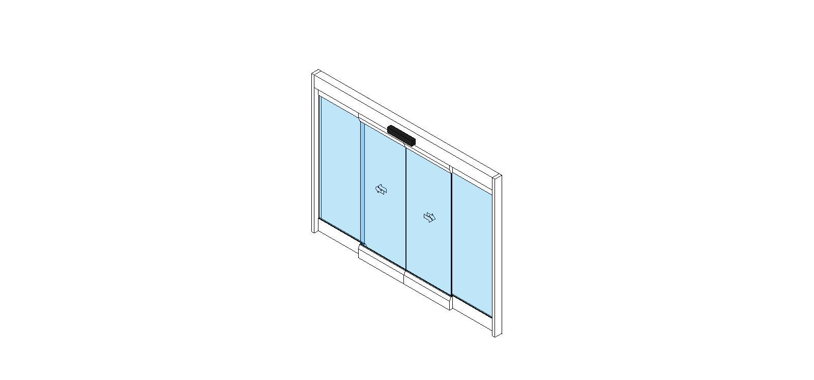 Assa abloy entrance systems sliding plastic doors bim for Sliding glass doors cad