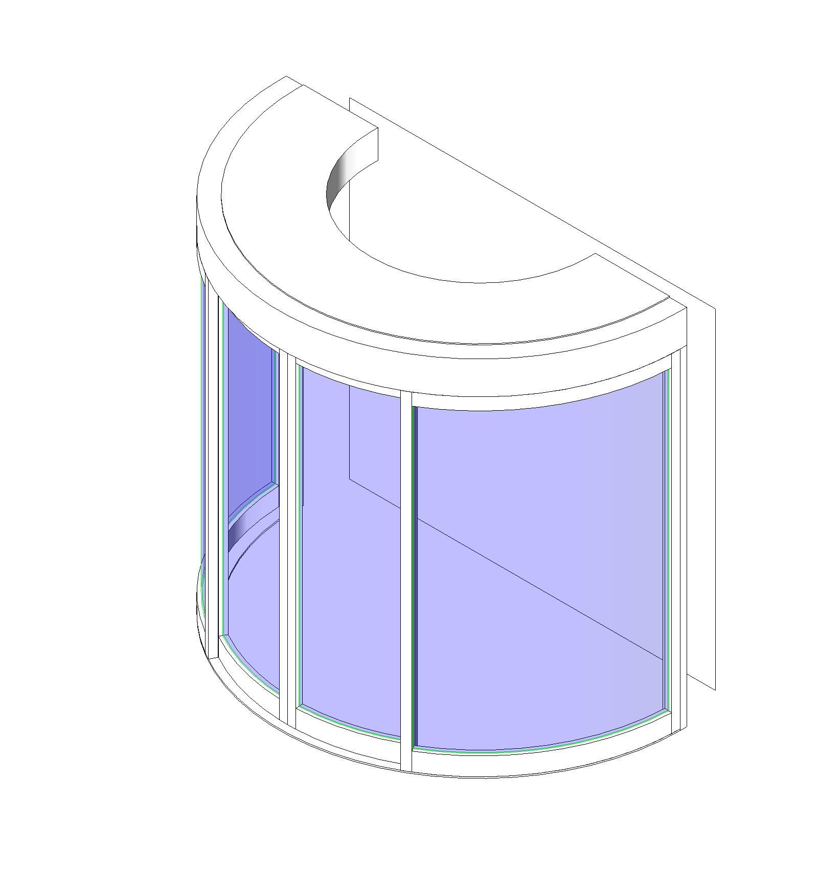 Round Sliding Door Design: BIM Objects / Families