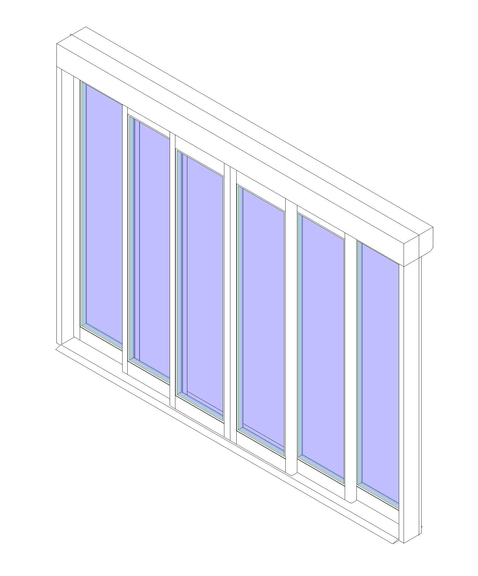 Glass folding door revit window family corner window revit sliding - Bim Objects Families