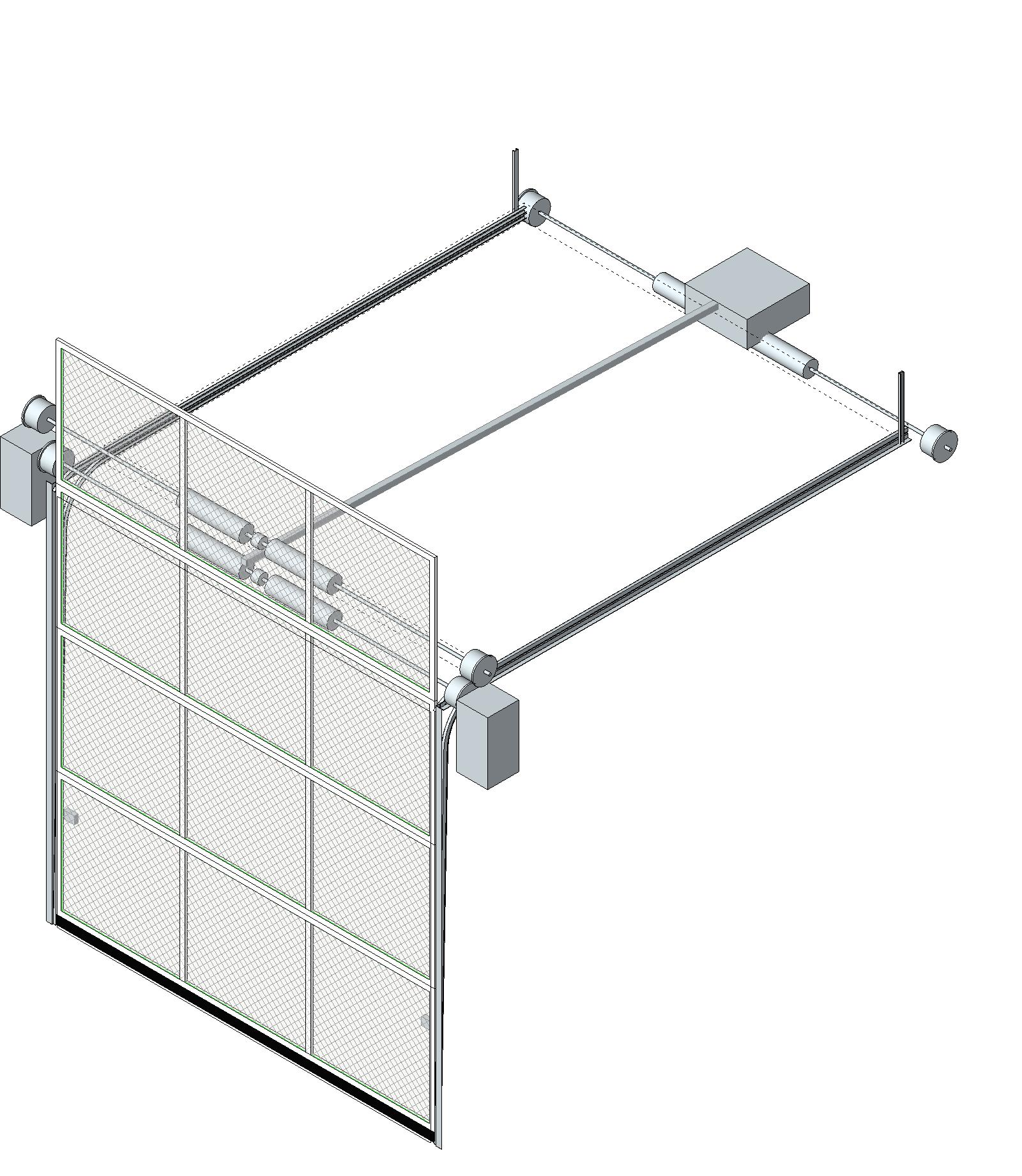 Horizontal Door Sektion Horizontal Wall Cabinet 2glass