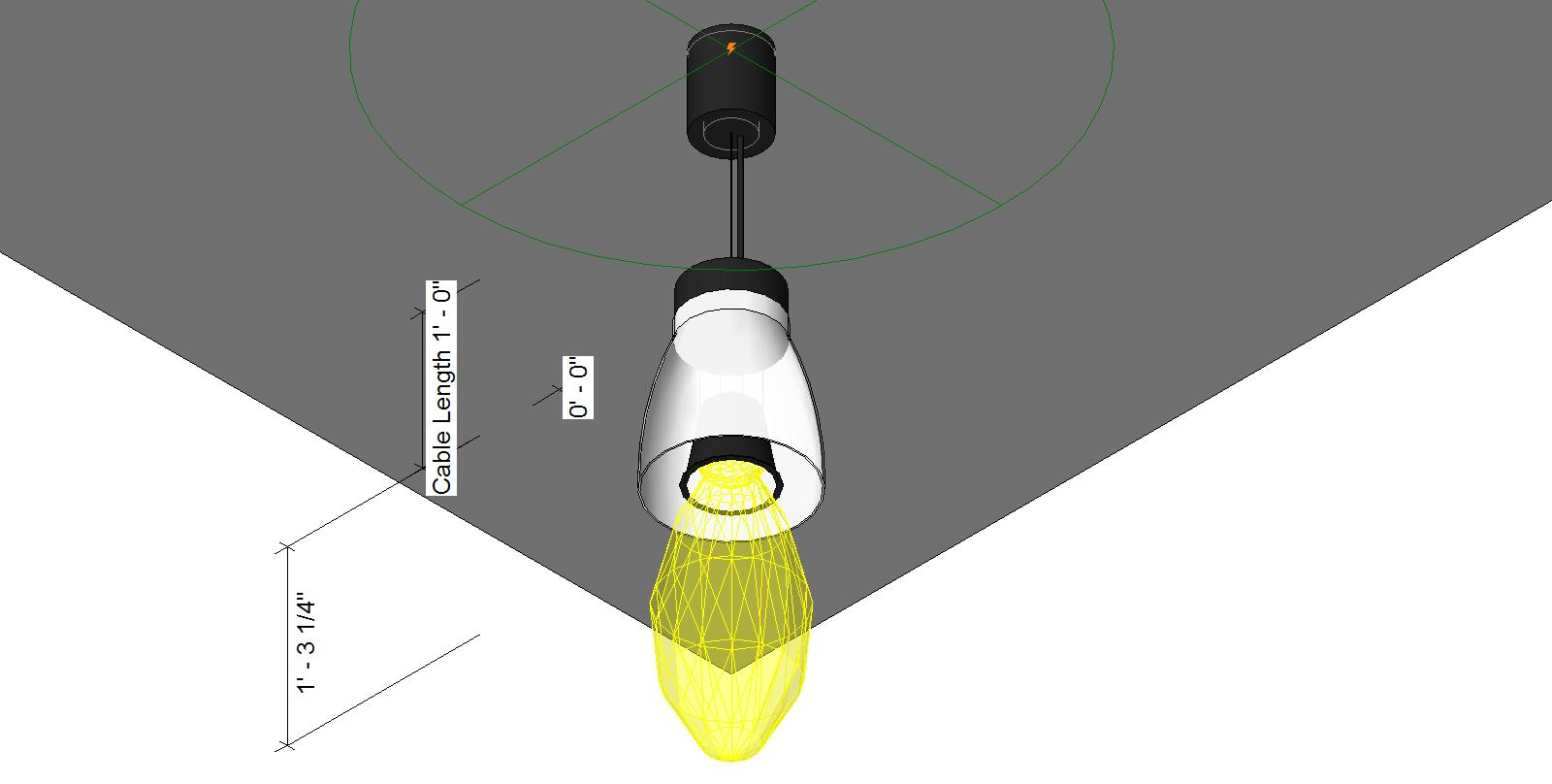 Pendant Lighting Revit Pendant Light Revit Model Pendant
