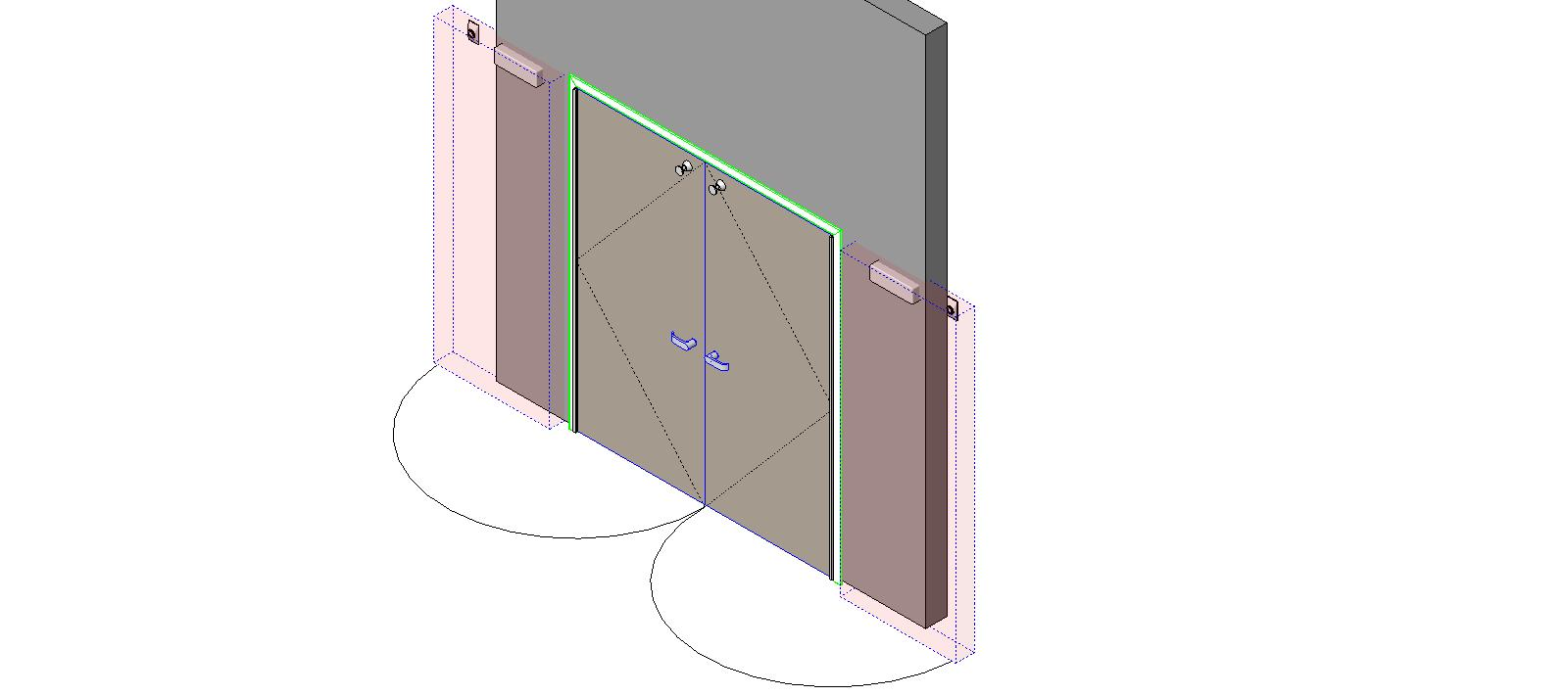 Special Function Doors Swing Doors Syntegra Integrated Pair - 180  sc 1 st  BIM Objects / Families & BIM Objects / Families