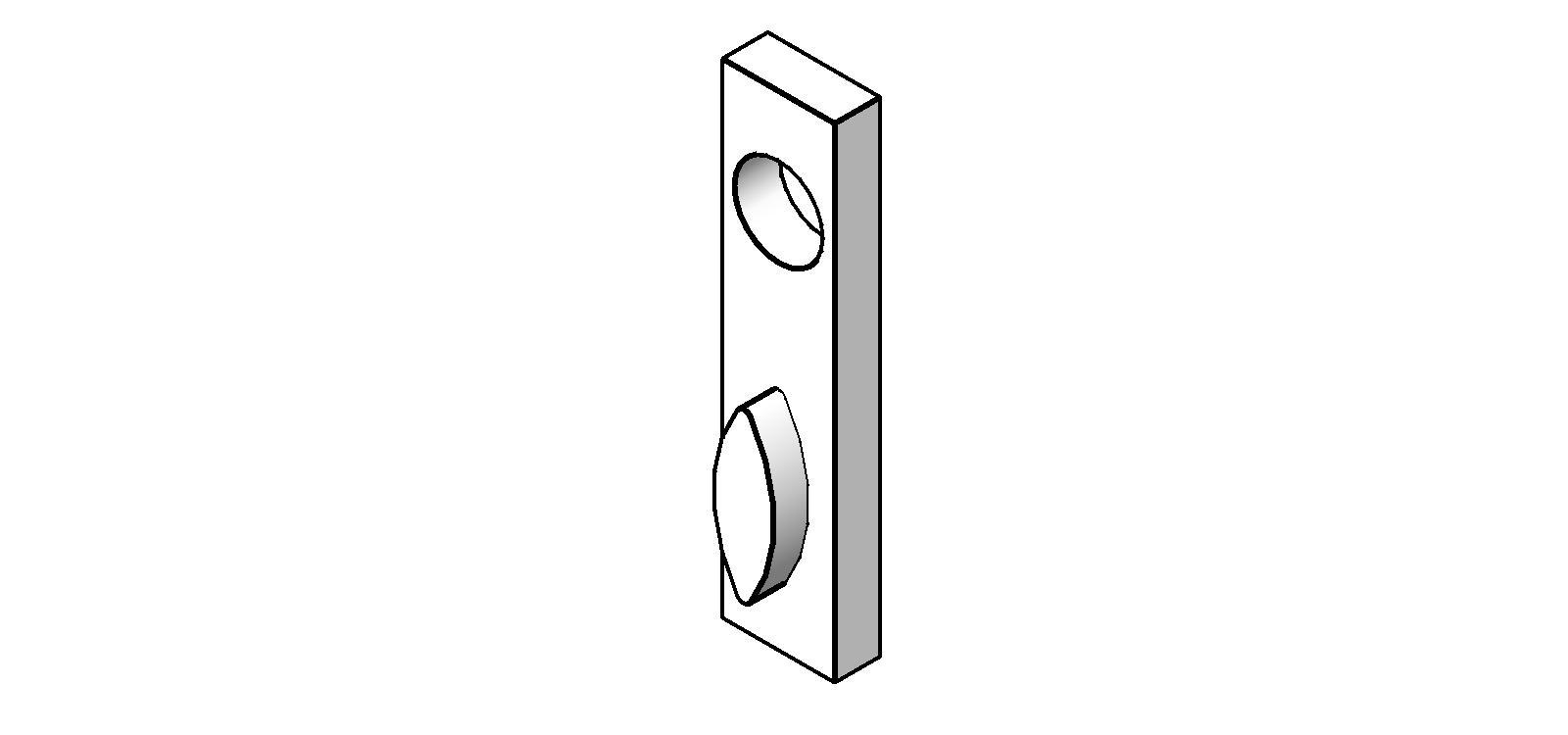 Door Hardwares Exit Device Trim 718 Thumbturn  sc 1 st  Arcat & BIM Objects / Families :: Door Hardwares: Exit Device Trim