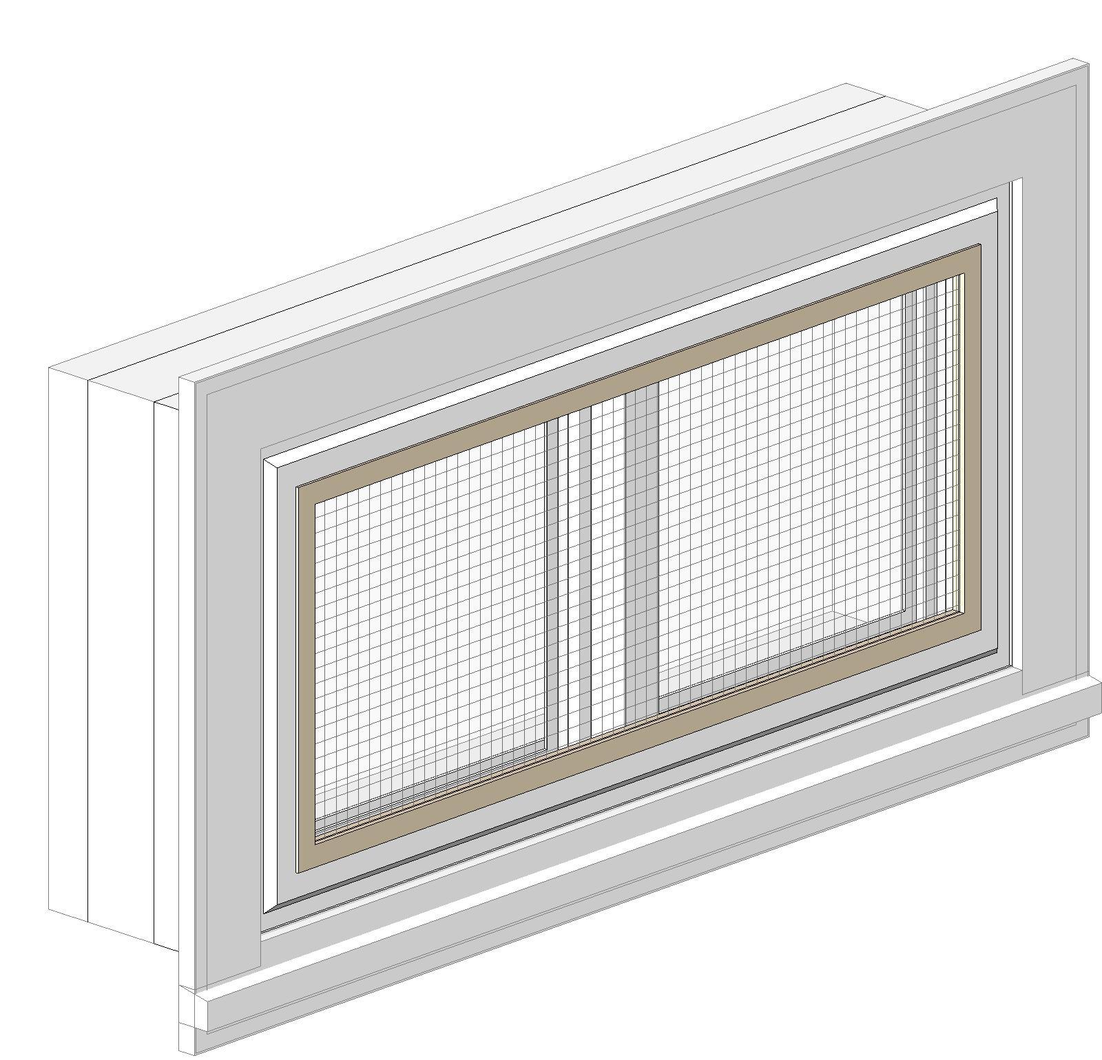 Bim objects families for Harvey windows