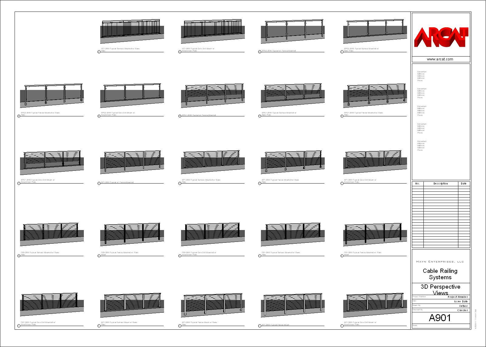 Decorative Metal Railings - Metals - Free BIM Objects / Families | ARCAT