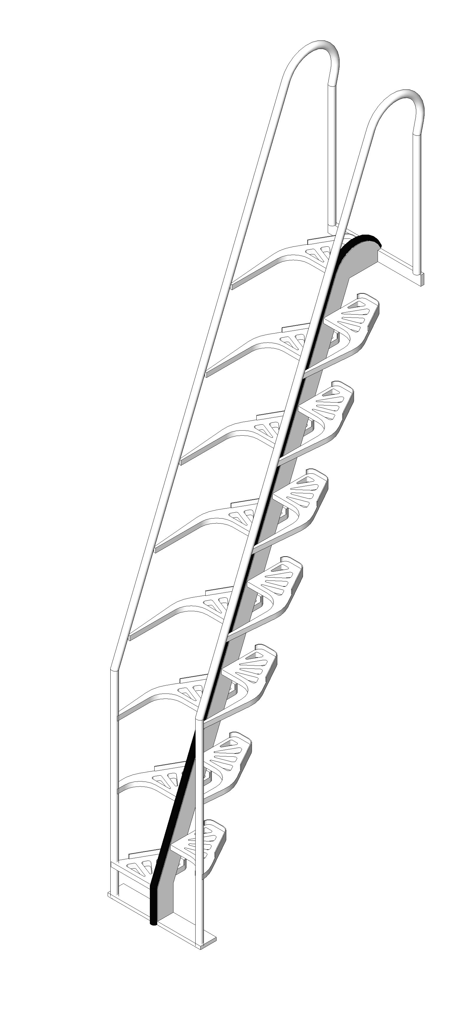 Metal Stairs And Ladders: Alternating Tread: Aluminum