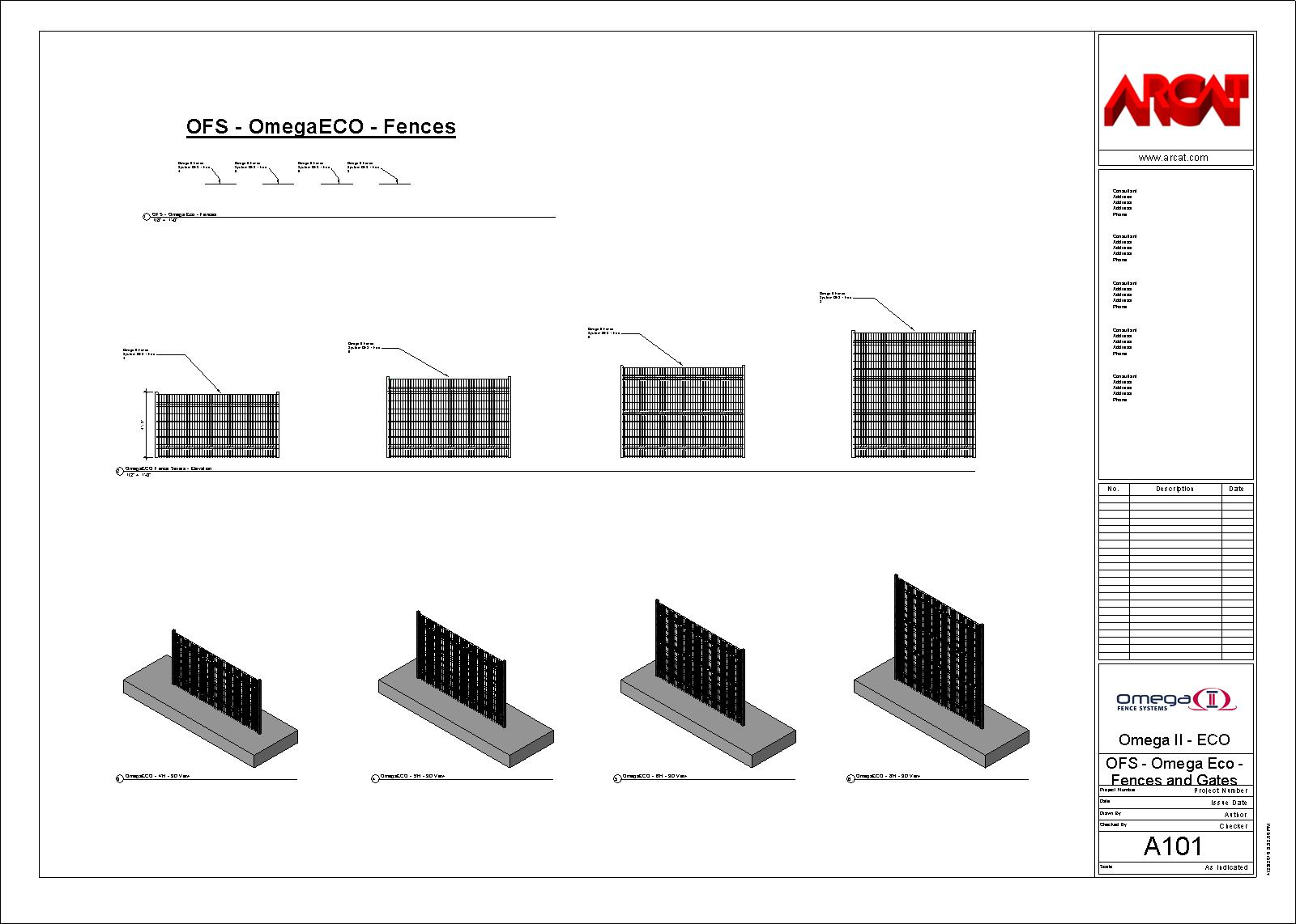 Omega II Fence Systems - BIM Objects / Families