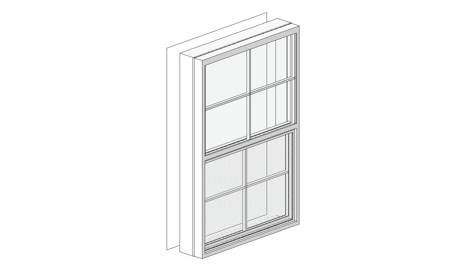 Single Hung Windows Autocad : Bim objects families